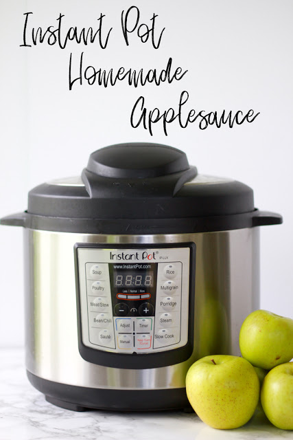 Homemade applesauce is made easy in the Instant Pot!  midwesternmama.com