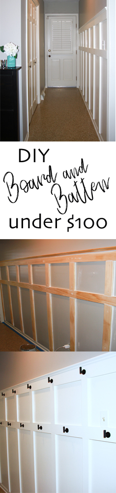 DIY Board and Batten under $100 / Midwestern Mama