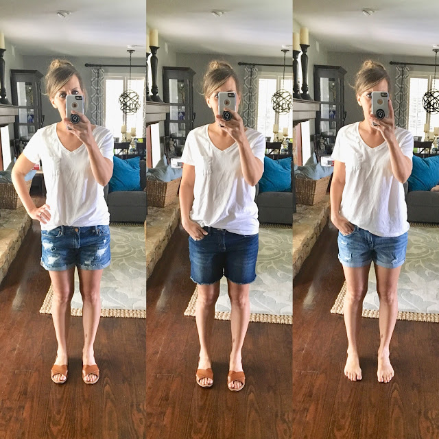 Denim Shorts Review / Midwestern Mama