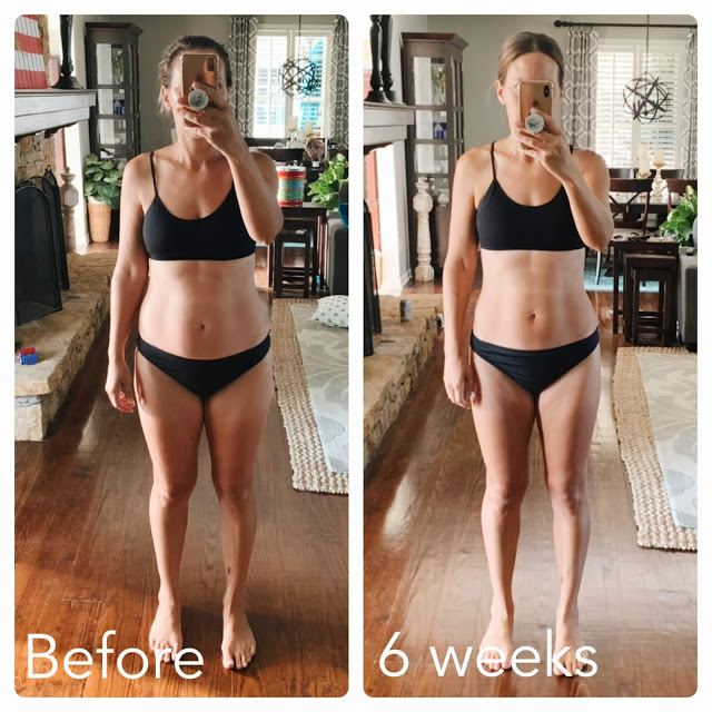 "My Faster Way to Fat Loss Journey: Before and After Photos and why I FREAKING LOVE this program!  Seeing the progress I""ve made in just 6 weeks is extremely motivating to continue this lifestyle!  What will my after photos look like in 12 weeks, or 6 months or 1 year?  / Midwestern Mama  #fwtfl fasterwaytofatloss #healthyeating #nutrition"
