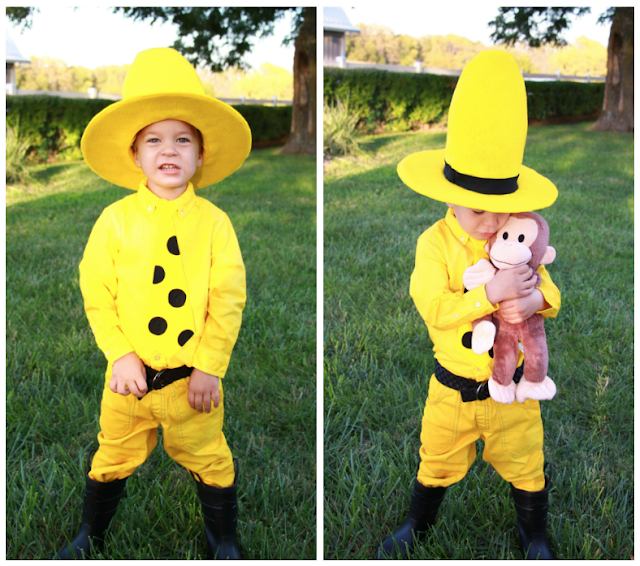 DIY Curious Geroge's Man in the Yellow Hat Costume / Midwestern Mama