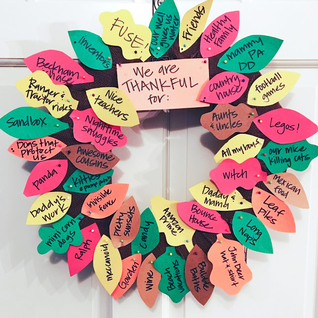 This DIY Thankful Wreath is the perfect way to get the kids involved in being grateful this holiday season!