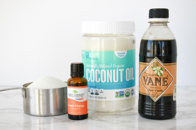 DIY Orange Vanilla Sugar Scrub