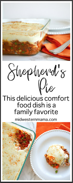 Shepherd's Pie / Midwestern Mama  This delicious Irish-based comfort food meal is a family favorite!