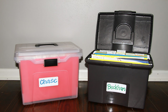 Organize school and art paperwork the easy way!  Midwestern Mama