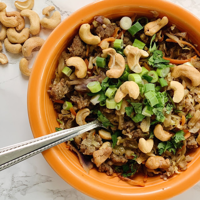 Eggroll in a Bowl is a quick, easy, delicious meal that is perfect for the whole family, and just happens to be Whole 30 and Paleo approved!