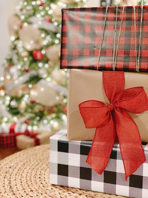 I've gone crazy this year with Buffalo Check!  Can't get enough of this plaid pattern for Christmas!  And inside these pretty packages are fun gifts for my kiddos.  If you need ideas for your kids, head to the blog to check out my kid's gift guide!  I'm sharing a variety of items for all ages and at various price points.  Midwestern Mama